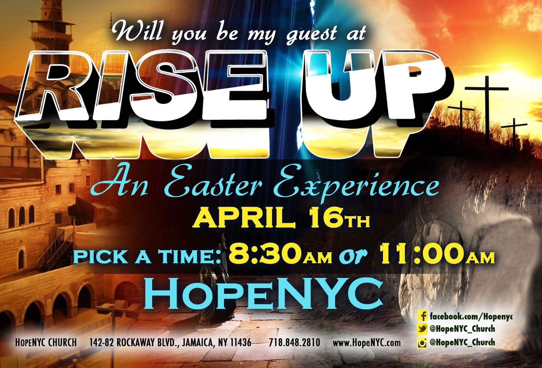 Nyc sips of hope rise up easter service exciting live broadway like production with sermons singing and dancingfree free gifts for first time guest its hopenyc negle Image collections